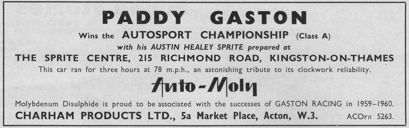 Paddy Gaston Sprite Center 3