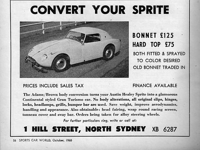Adams-Brown (Australia) 1960 Sports Car World October 5