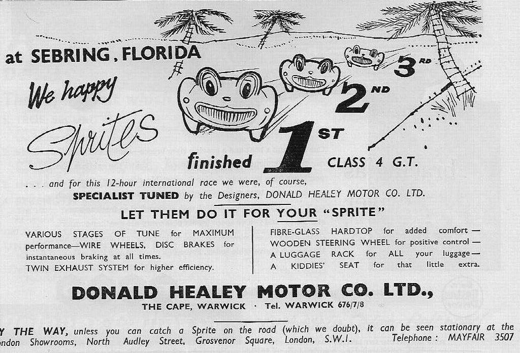 Donald healey Motor Co Sebring Florida