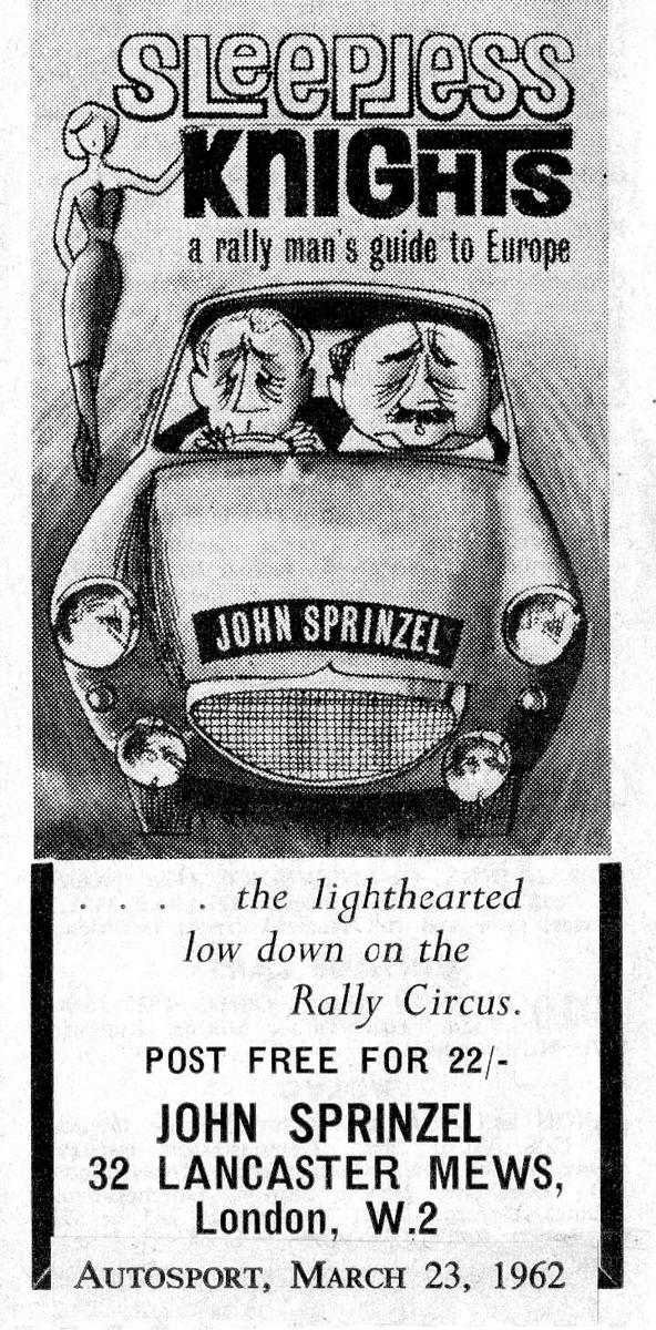John Sprinzel Sleepless Knights advert