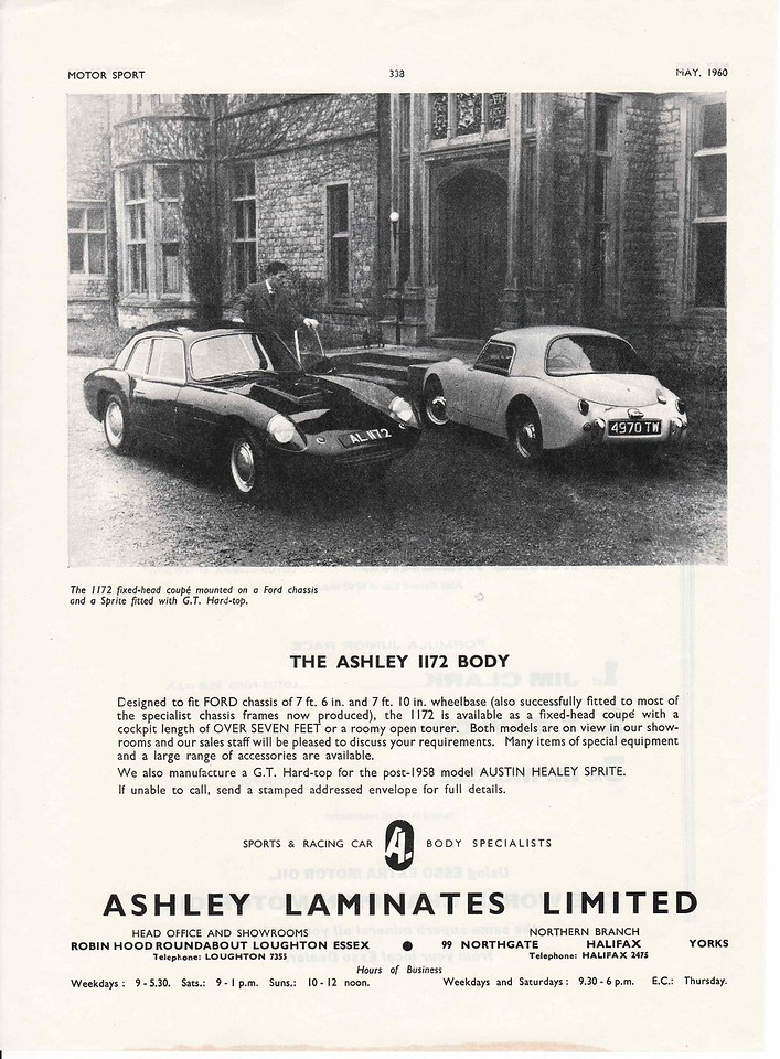 Ashley Motorsport May 1960