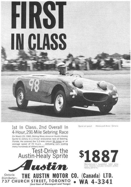 BMC First in Class November 1960 sprite