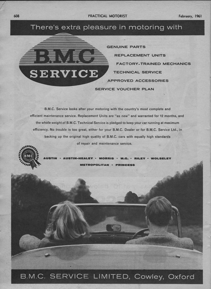 BMC Service Practical Motoring February 1961