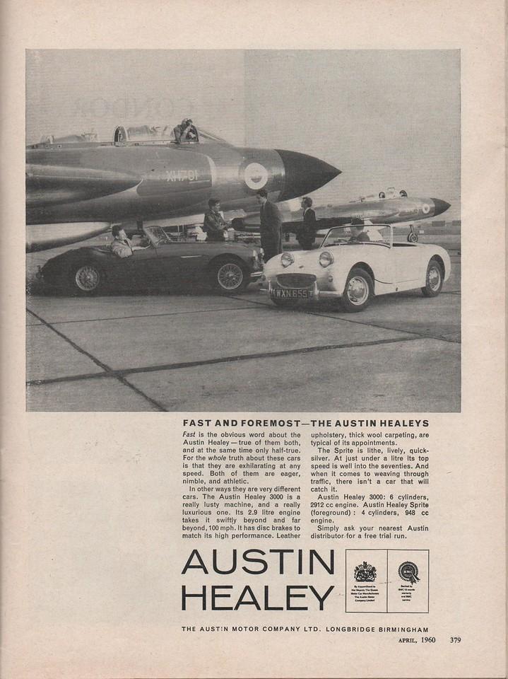 BMC Austin Healey Fast Foremost Motorsport 1960 April