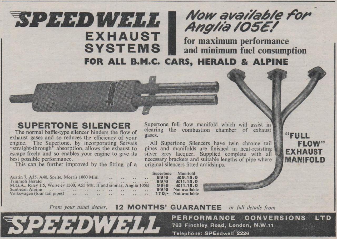 Speedwell Exhaust Motor 1960 Dec 28