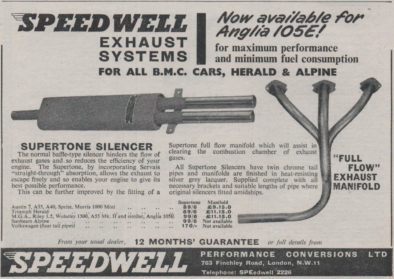Speedwell Exhaust Motor 1960 Dec 28