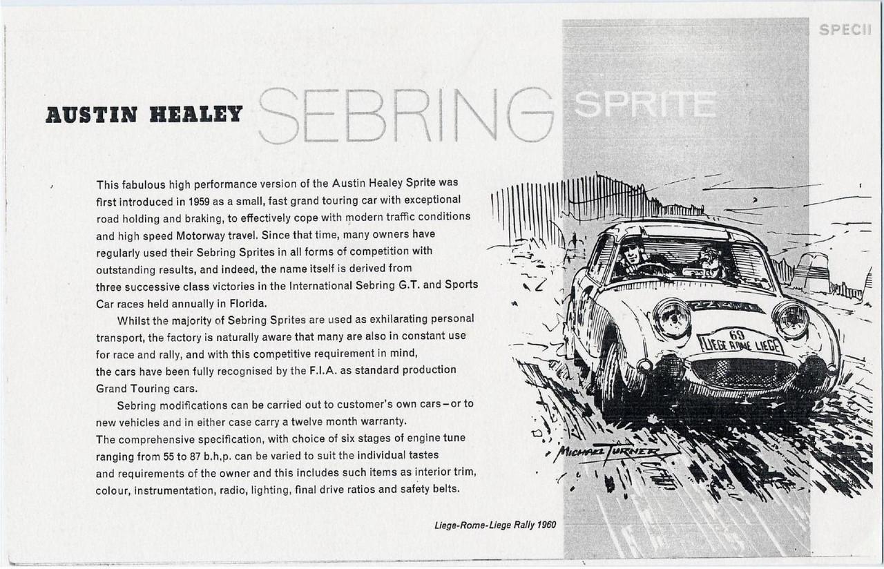 Sebring Sprite Catalogue 2