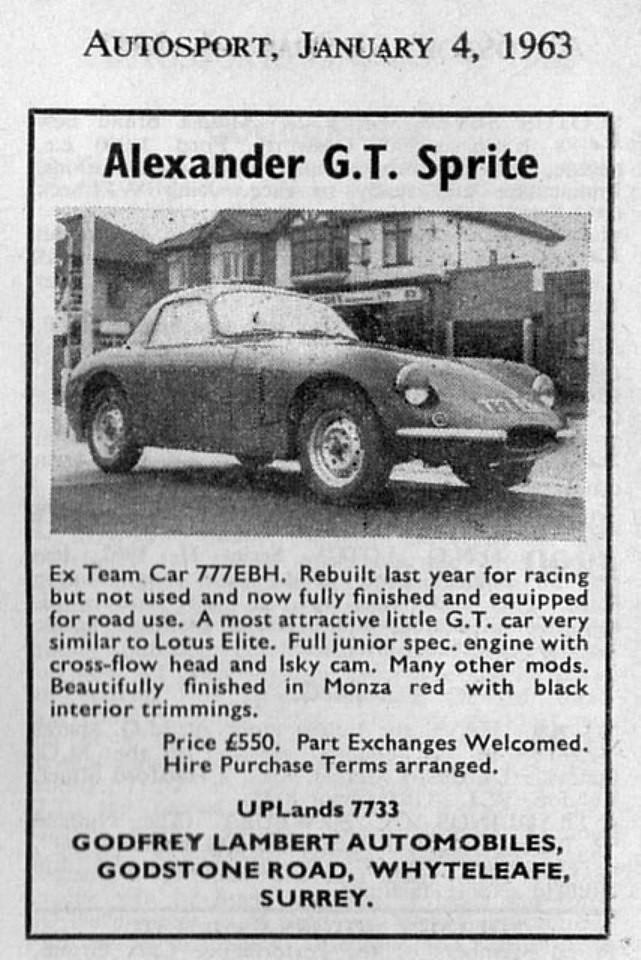 Alexander Sprite Advert