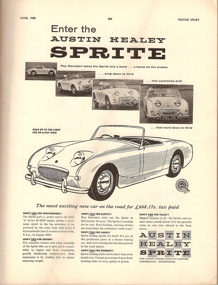 BMC Enter Motor Sport July 1958 1