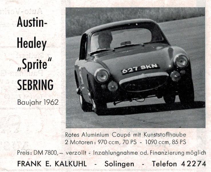 Sebring Sprite German Advert 1962