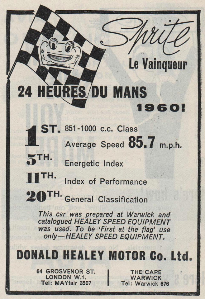 Donald Healey Motor Co Ltd Le Mans 1960