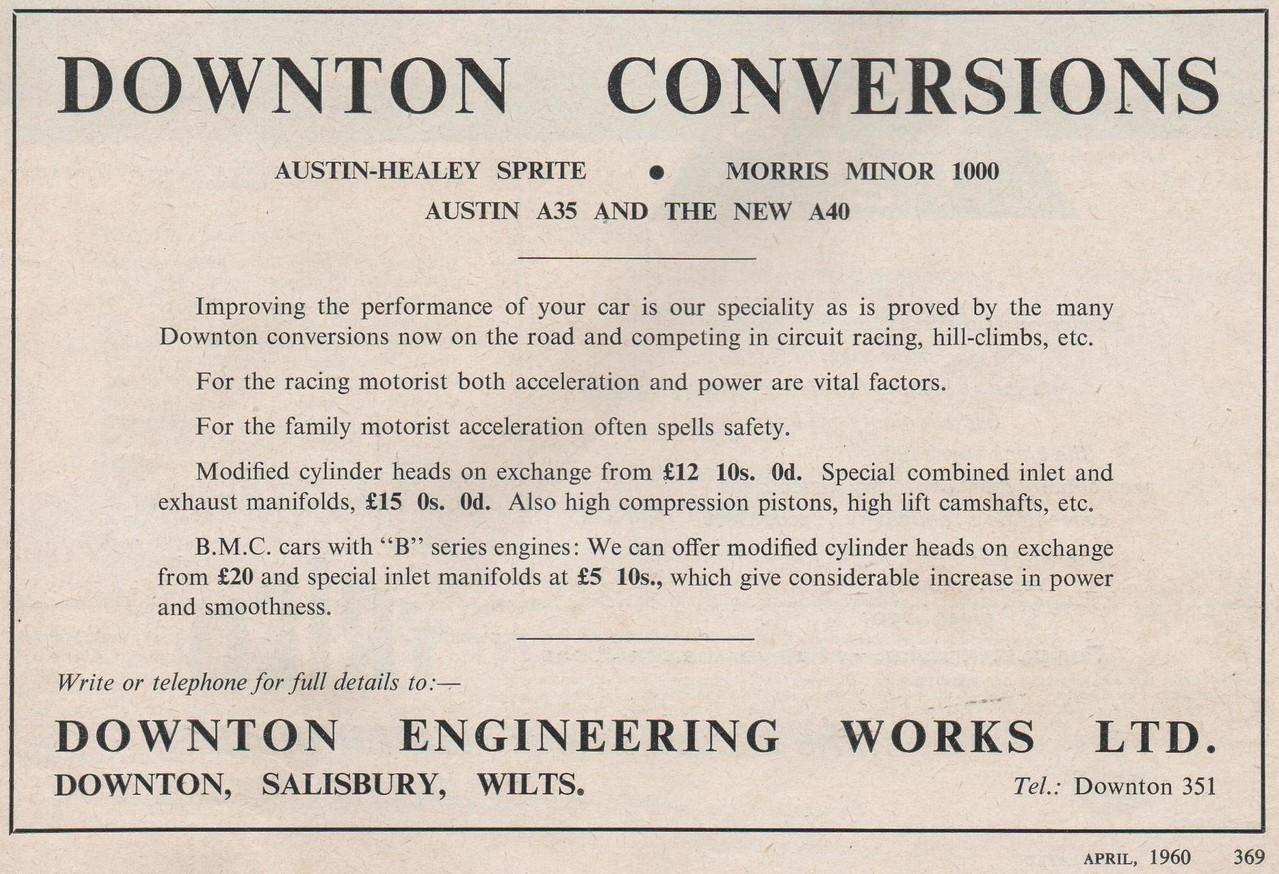 Downton Conversions Motorsport 1960 April