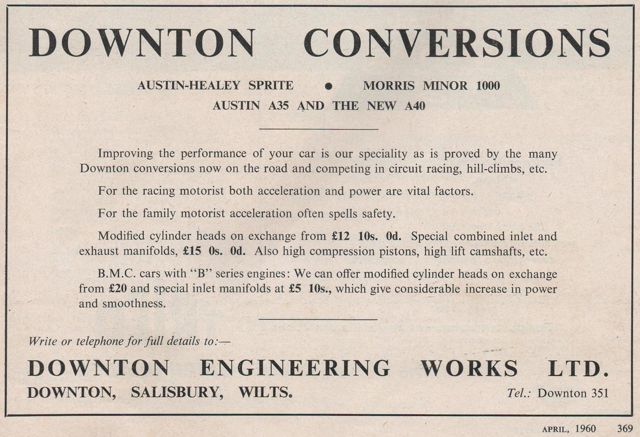 Downton Conversions Motorsport 1960 April