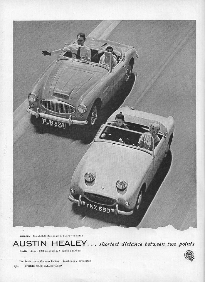 BMC Shortest Distance Sports Cars Illustrated 1958 November