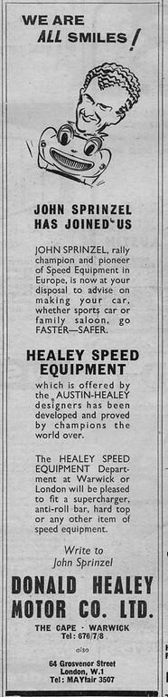Donald Healey Motor Company Are All Smiles Long