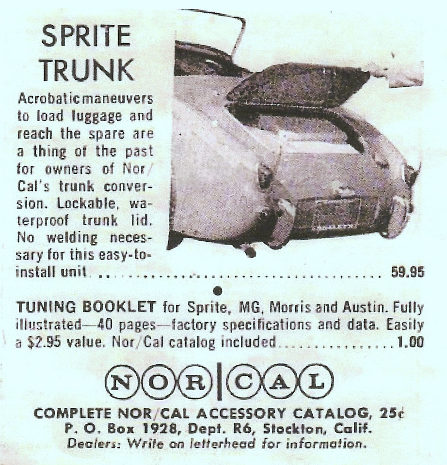 Norcal Mk1 Sprite boot Kit