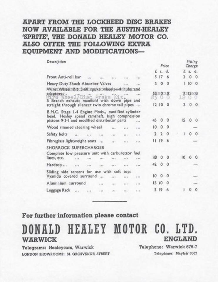 Donald Healey Motor Company Lockheed Brakes 2