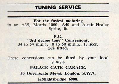 Palace Gate Garage Autosport 1959 Sept