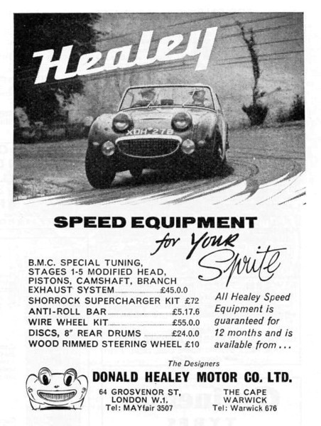 Donald Healey Motor Co Speed Equipment