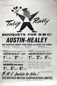 BMC Tulip Rally 1961 12th May