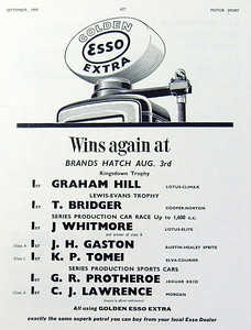 Esso Golden Extra Brands Hatch Motor Sport 1959 August 3rd