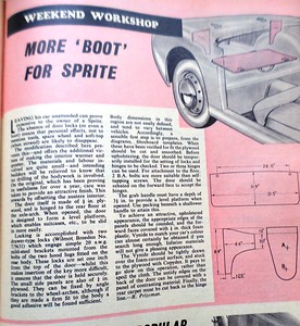 Car Mechanics 1960 More Boot for Sprite