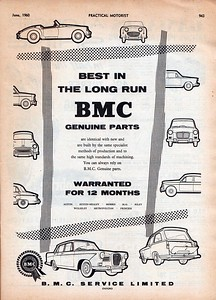 BMC Service Ltd Best In The Long Run Practical Motorist 1960 June
