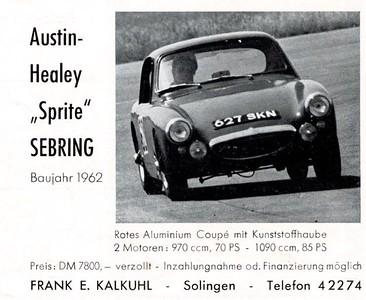 Austin Healey Sebring Sprite German Advert