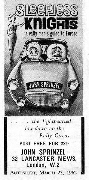 John Sprinzel Sleepless Knights advert