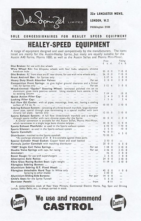 John Sprinzel Healey Speed Equipment