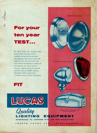 Joseph Lucas Ltd Practical Motorist 1961 Jan