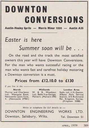 Downton Conversions 1959 Sports cars Illustrated April