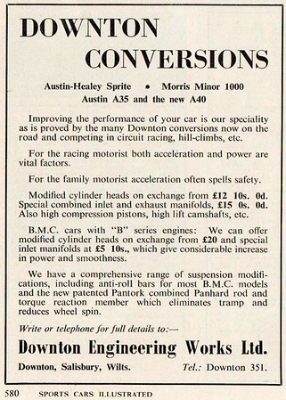 Downton Conversions 1959 Sports Cars Illustrated July
