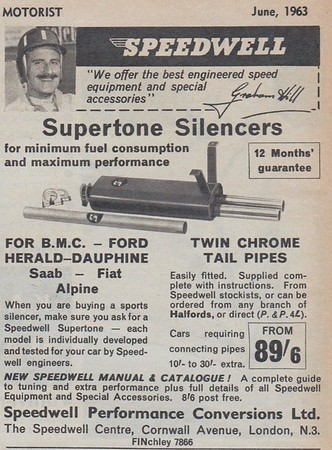Speedwell Supertone Silencers Practical Motorist 1963 June