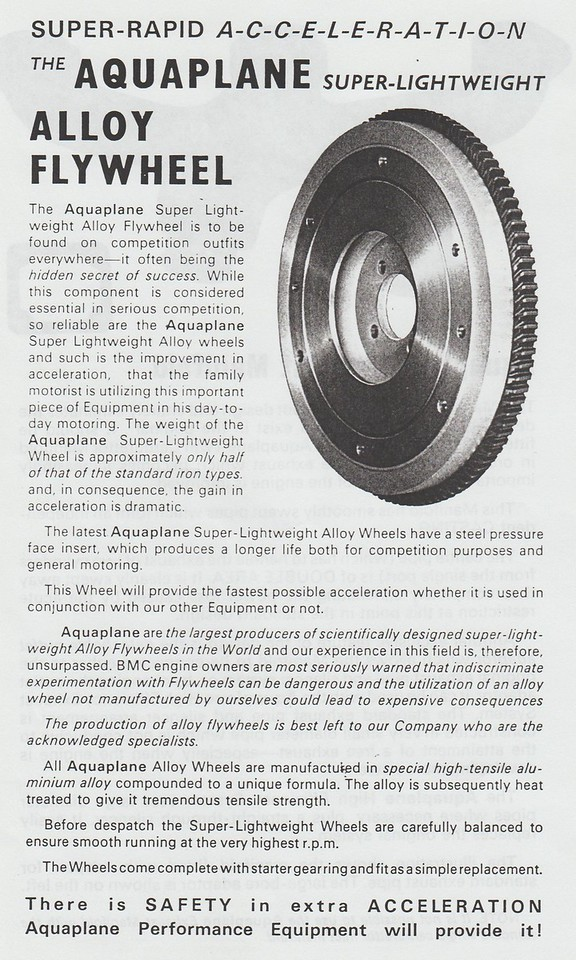 Aquaplane flywheel