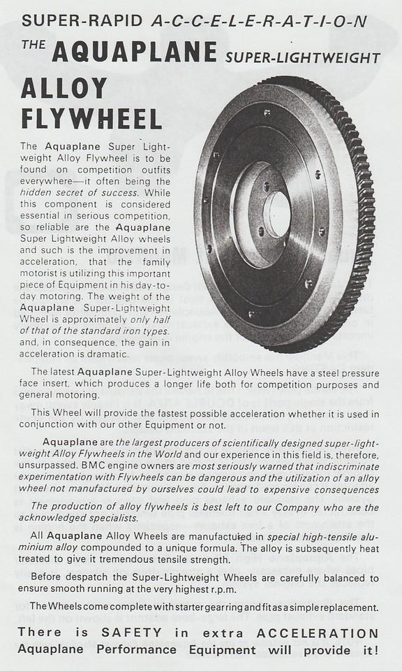 Aquaplane flywheel