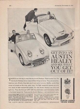 BMC Get into Austin Healey Autosport 1958 Vol.16 No.21 May