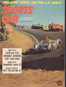 Sports Car Graphic 1961 July 1