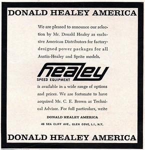 Donald Healey America ad