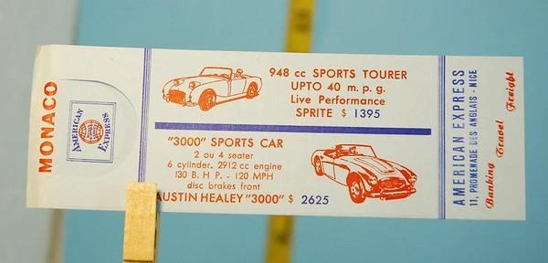 American Express Monaco ticket advert