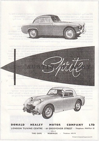 Donald Healey Sprite Mk1 and Mk2