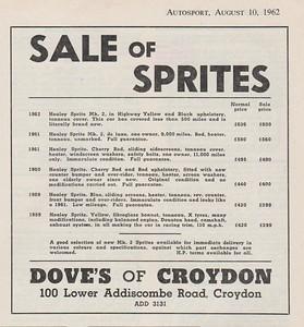 Dove's of Croydon 1962 Autosport August