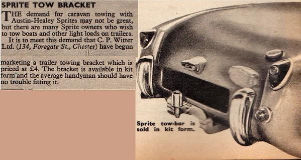 C.P.Wintter Ltd Tow Bar Practical Motorist 1961 August