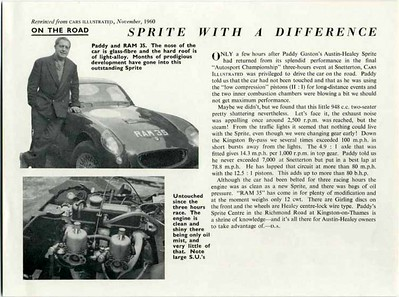 Cars Illustrated 1960 Nov 2 Paddy Gaston