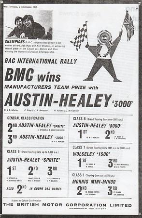 BMC RAC International Rally Autocar 1960 Dec