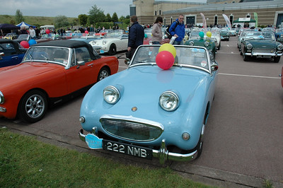 "222NMB  The database received the following email ""Hi can you help please . I found you arcive photos of the Spridget meet when trying to trace a frogeye owned by my dad new in 1959 she is reg 222nmb . We would love to trace the car and have contacted the owners club but it seems the owner is not a member. My dad is not in the best of health now at 79 and we lost my mum earlier this year, his life partner, and he is lost. I know it would mean the world to him to see this car again as he bought it from the garage where he met my mum. They had to sell the car when mum fell pregnant with me ! I hope you can help"". We are delighted to say that the original owner and the current owner are now in direct contact and are soon to be reunited. Another previous owner has contacted me to say ""I had a great deal of fun in that car, I ran in the sand races at Harrison Drive in Cheshire with it, Almost sinking it in the incoming tide on one occasion, However a passing? JCB pulled me out, the engine was washed off with sea water but was able to start with a tow. when I used the car it lasted 2 weeks after this then the crank shaft broke in the middle, Another engine! They have also now been put in touch"
