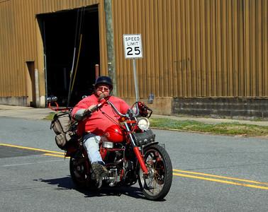 Red biker red bike