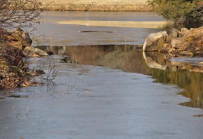 Pond in winter