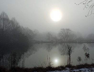 2 suns in the fog