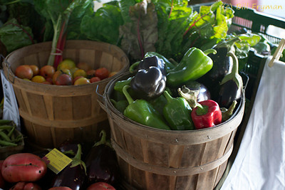 Organic vegetables.